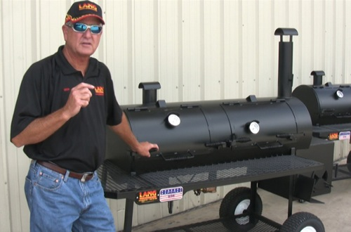 Ben Lang talking about the Lang 48 Hybrid smoker cookers and charcoal grills