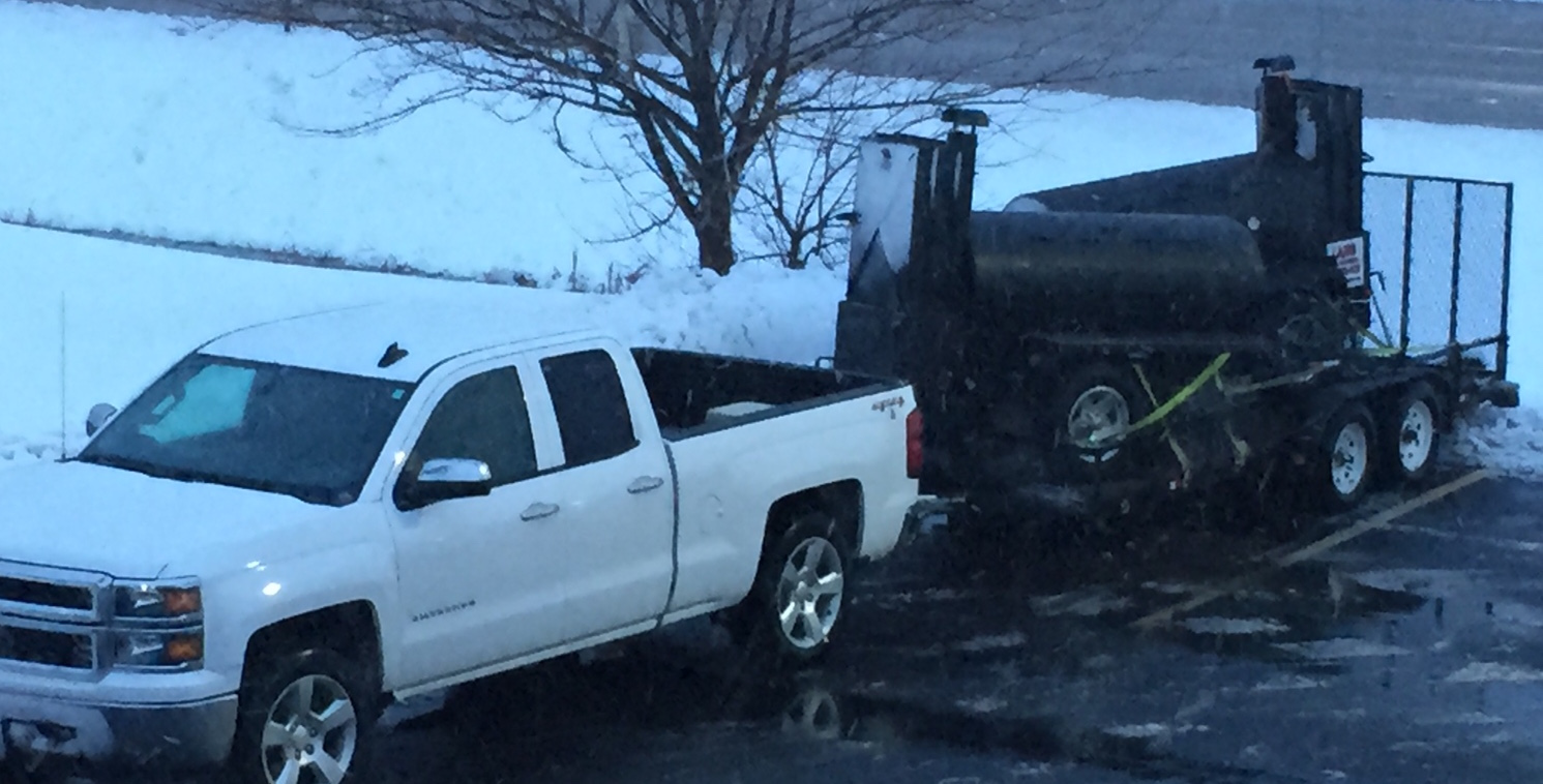 Lang Smoker cookers arrive in the snow