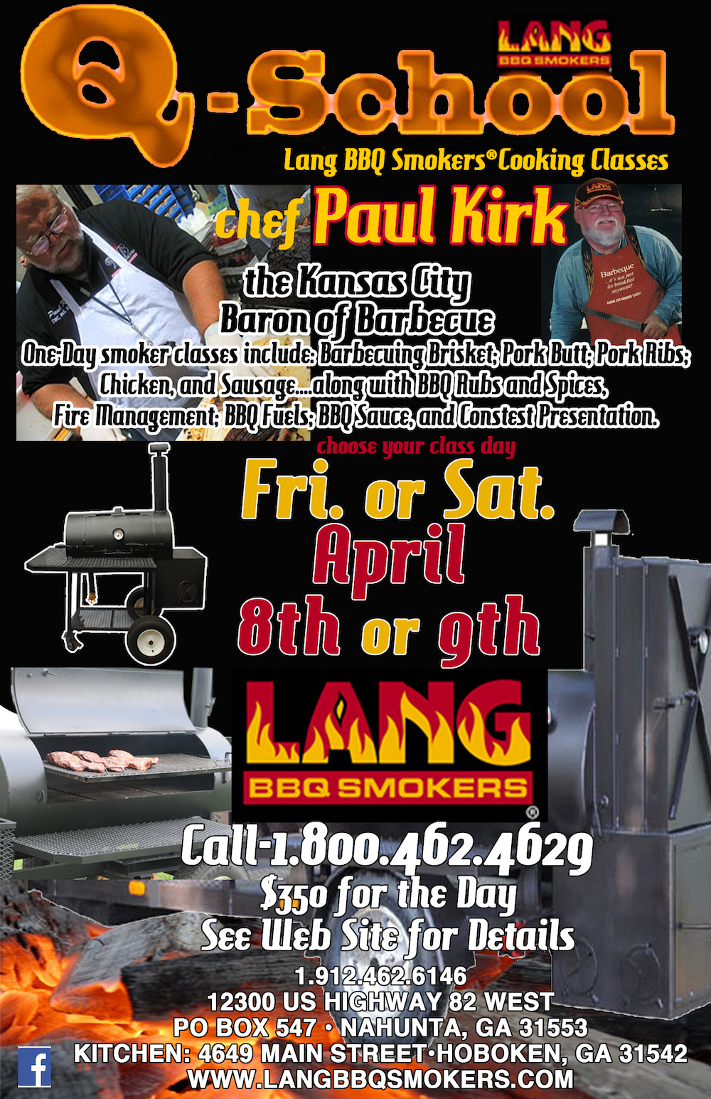 April Smoker Cooker Cooking Classes