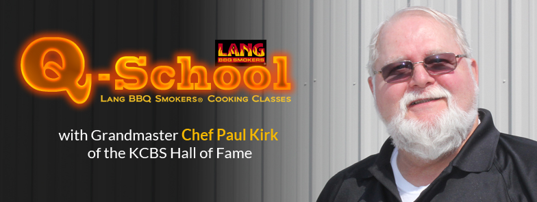 Q-School Lang BBQ Smoker cooker classes with Chef Paul Kirk