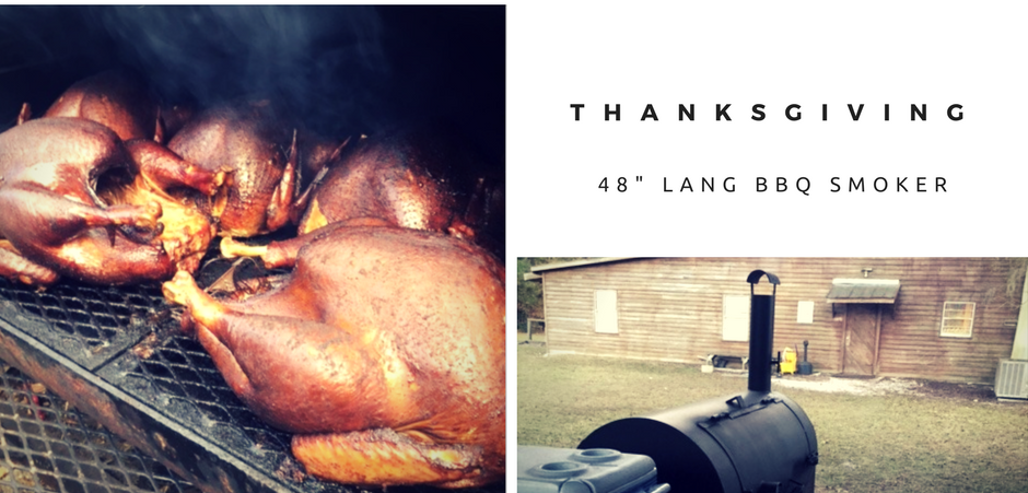 Smoking Turkeys on a Lang 48