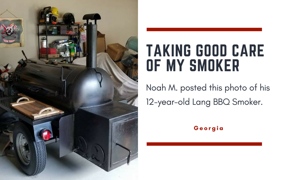 12 year old lang bbq smoker
