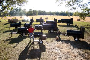 Ben Lang with alot of Lang Smoker Cookers