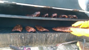 Ribs cooking