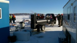 Everyone is checking out the Lang smoker